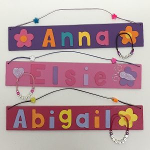 Name Plate and Bracelet set
